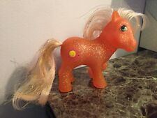 My Little Pony vintage G1 Sunspot orange sparkle pony smiling sun tinsel mane