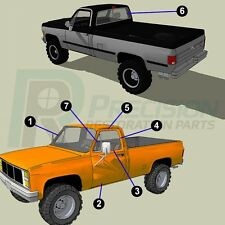 Complete Weatherstrip Seal Kit for 85-87 Chevy GMC Pickup w/ Trim C,K,R,V Series