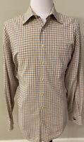 Peter Millar Men's Plaid Button Down Shirt Size Extra Large Blue | Orange