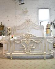 Shabby Chic Bed Romantic French King Queen Bed Headboard & Footboard