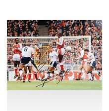Paul Gascoigne Signed Tottenham Hotspur Photo - 1991 FA Cup Semi-Final