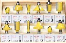 12pc Tungsten Carbide Tip Router Bit Set 1/4 inch Inch Shank Cutter Laminate