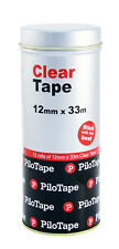 PiloTape Self Adhesive Clear General Tape 12mmx33m In Reuasable Tin - Pack 12
