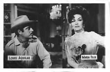 B55223 Louis Aquilar Maria Felix Couple Acteurs Actors 9x7cm