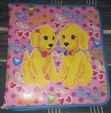 Lisa Frank Puppy Love Vintage 3 Ring Binder Full Zip