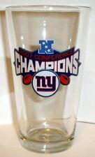 NY GIANTS  2007 NFC CHAMPS SUPER BOWL 42 PINT GLASS