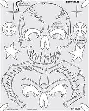 Frontal II - Return of Skullmaster Craig Fraser Atrool Iwata Airbrush Stencil