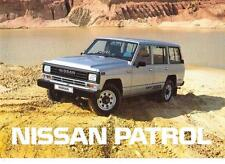 NISSAN PATROL HARDTOP AND ESTATE SALES BROCHURE 1987  1988