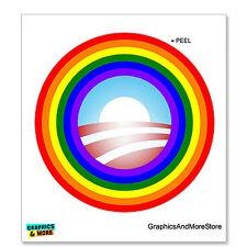 Obama - Rainbow - Obama Logo - Gay Pride - Window Bumper Locker Sticker