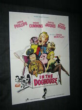 Original IN THE DOGHOUSE British MEGA RARE WINDOW CARD Leslie Phillips