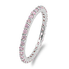 2mm Sterling Silver Eternity Stackable Band Ring size 5 6 7 8 9 10 Designer insp