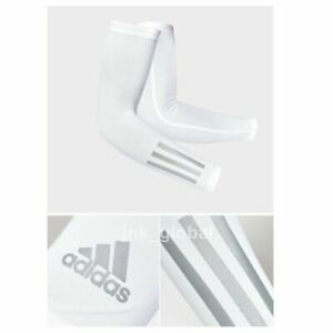 adidas 2020 Authentic UV Protection Arm Sleeve Cover White M + Free Track