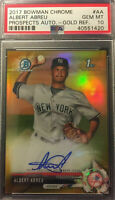 2017 Bowman Chrome ALBERT ABREU GOLD REFRACTOR AUTO RC # 39/50 PSA 10 Gem Mint