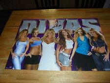 WWE 2005 Divas Poster 34 X 22 WWF Stacy Keibler Torrie Wilson Trish Stratus RARE