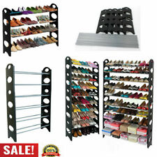 Shoe Rack Wall Tower Cabinet Storage Organizer Home Holder Shelf 3/4/6/10 Tier