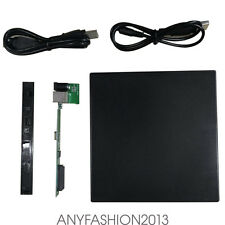 External SATA TO USB 2.0 DVD CD RW Disc Drive Slim Enclosure Case for PC TM6