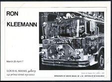 1976 FDNY Mack fire engine truck Ron Kleemann photorealistic vintage print ad