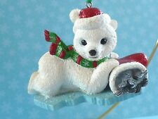 Danbury Mint Christmas The Baby Animals Ornaments Polar Bear Nwt