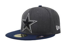 New Era 59Fifty Cap NFL Dallas Cowboys Mens Shader Charcoal Gray Fitted Hat 5950