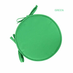 Round Circle Cushions Tie on Chair Cotton Blend Seat Pad Patio Dining Garden