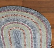 Pottery Barn Kids Chenille braided Rug blue red 5' x 8' new Price Drop Authentic