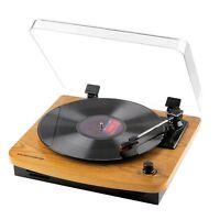Musitrend 3 Speed LP Turntable w Built-In Stereo Speakers, Mt1107PC, Oak