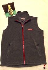 Abercrombie & Fitch Polyester Vest Men's Small. Very nice. Minimal Wear Gray