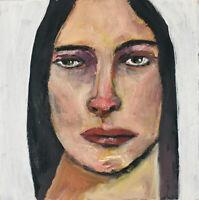 Ya Can't Fix Stupid Oil Portrait Painting OOAK Original Art Katie Jeanne Wood