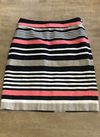 Women's Banana Republic Pink And Black Striped Pencil Skirt Size 2 Career/Casual