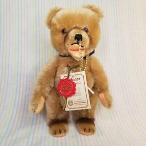 Vintage Herman Teddy Circus Bear LE COA Nose Chain Open Mouth Mohair Jointed Tag