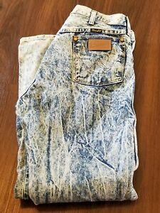 Vintage Wrangler Acid Wash Denim Jeans Mens 34 X 32