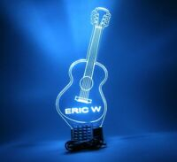 Guitar Night Light Up Lamp Personalized Acoustic Lap Guitar Music LED W/ Remote