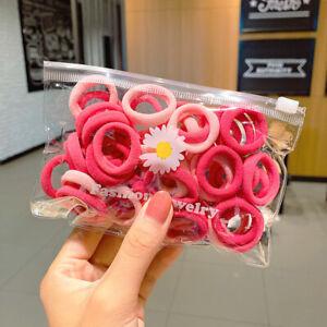 50Pcs Women Girls Hair Band Ties Rope Ring Elastic Hairband Ponytail Holder Lot