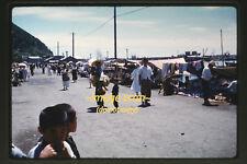 Early 1960's Korea Coastal Scene & Market Seller, Original 35mm Photo Slide b12a