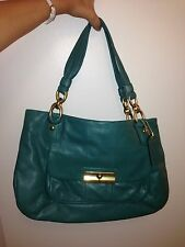 Authentic Coach Kristin Leather E/W Large Satchel Tote Purse 16814 Green $398