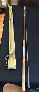Vintage Montague, 2 Piece 8 Ft Holloglass Fly Rod, In Sock, Collectible W/ tube