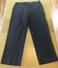 Gap Mens Charcoal Dress Striped Pants Size 35x30 EUC