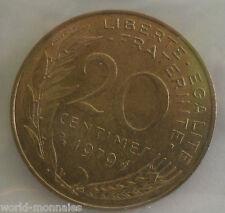 20 centimes marianne 1979 : SUP : pièce de monnaie française