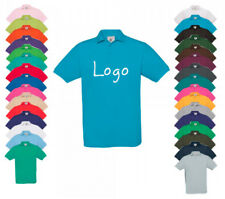 Herren Polo-Shirt individuell bestickt Stickerei Wunsch Text Logo Name Motiv