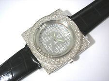 Iced Out Bling Bling Hip Hop New York Yankees  Men's Watch Silver Item 3236