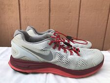 NIKE LUNARGLIDE 4 524977-006 GRAY RUNNING SHOES MEN'S US SIZE 11 EUR 45