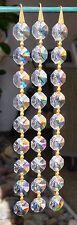 """SCHONBEK Chandelier 7"""" Strand (1 pc) 9 -14mm Octagon Crystals Per Strand"""