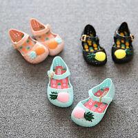 Cartoon Cute Furit Pineapple Sandals Jelly Kids Infants Shoes Summer Children