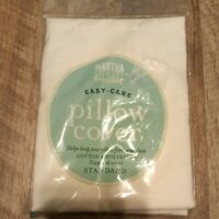 "Vintage Martha Stewart Pillow Cover STANDARD White Zippered NEW 20"" x 26"""