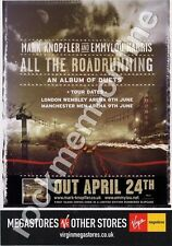 Mark Knopfler Dire Straits & Emmylou Harris All The Roadrunning LP Tour Advert
