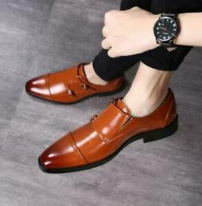 British Mens Dress Formal Leather Shoes Pointy Toe Business Wedding Oxfords New