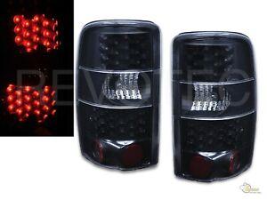Black LED Tail Lights 00-06 Chevy Suburban Tahoe GMC Yukon XL Denali
