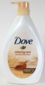 1 Dove 27.05 Oz Relaxing Care Shea Butter & Vanilla Nourish Body Wash With Pump
