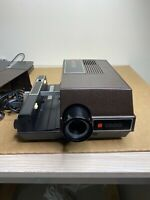 GAF 1660 Manual Slide Projector Vintage With Tray Tested Working Pre-owned
