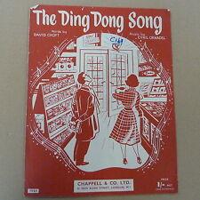 songsheet DING DONG SONG Cyril Ornadel 1955